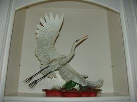 American Boehm Porcelain, Great White Egret on Flight