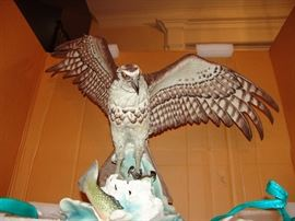 "American Boehm Porcelain, Osprey, approximately 28"" H x 37""W"