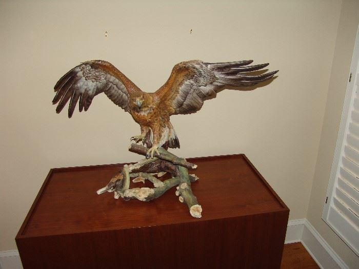 Golden Eagle on custom made pedestal