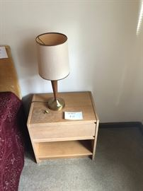 night stands 2 of them as well as MCM lamps