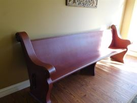 vintage  church  pew-