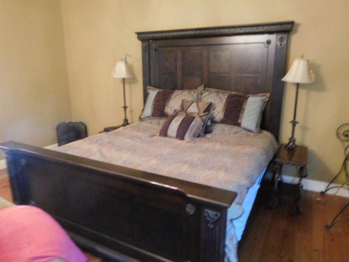 Ashley  king  size  bedroom  set(no mattress  set)
