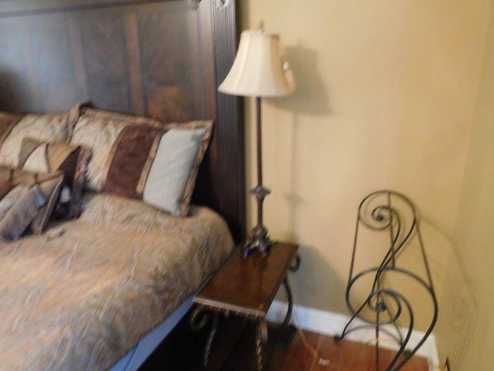 pair  of  lamps  in  master  bedroom