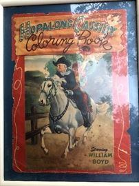 Framed hopalong Cassidy coloring book cover