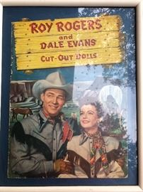 Framed Roy Rogers and Dale Evans cut out dolls cover