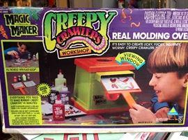 Vintage magic maker creepy crawler oven still in