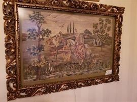 Amazing 1800s Framed Tapestry