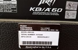 Peavey Model KB/A 60 Keyboard Acoustic Amplification System with Microphone