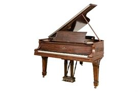 STEINWAY & SON GRAND PIANO MODEL B, CA. 1907 IN HIGHLY FIGURED MAHOGANY CASE Item #: 90300