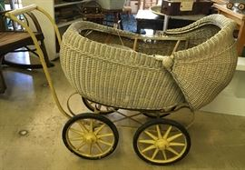 Antique Baby Buggy!  Designers take note!