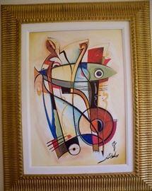 """Heart Full of Blues."" Acrylic on canvas by Alfred Gockel (b. 1952, Germany)."