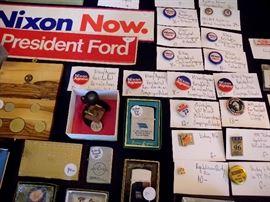 Presidential & other campaign memorabilia - Nixon, Ford, Landon, Kit Bond.
