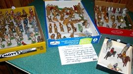 Collectible Manoil toy soldiers, produced in the U.S. circa 1937 by the Manoil family who emigrated from Romania in the early 1900s.