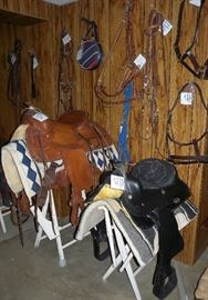 Tack and saddles available, other decorative equestrian items