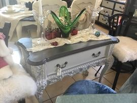 Antique Ball & Claw Vanity/Entry Way Table
