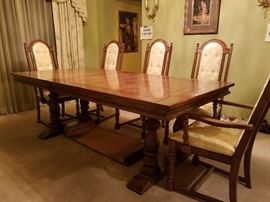 estatesales net search rh estatesales net With 8 Chairs Square Table Dinning Table and Chairs