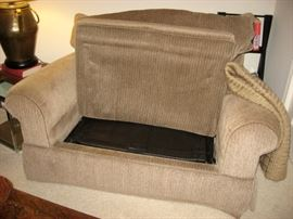 Loveseat size hide-a-bed
