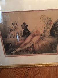 Louis Icart signed litho