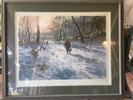 John P. Cowan signed and numberd print in frame