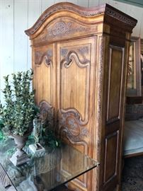 New French Country style armoire. Fitted for a computer and keyboard. Reg. 1395.00    Sale  697.50