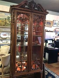 Lighted Renaissance Revival vitrine   Reg.$ 4800.00 Sale  $3360.00