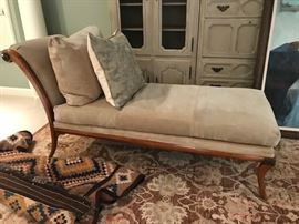 Kriess suede chaise lounge chair.  $4500.00  Sale price $2250.00