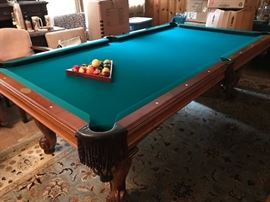 8ft Olhausen pool table with accessories. SALE PRICED 995.00   What a deal!!!!  Call 210-222-0265 if you want to see this pool table.