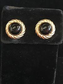 Deal of the day  gold and onyx earrings  Reg 145.   Sale 75% OFF.  $36.25