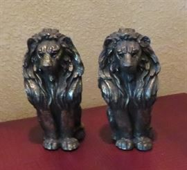 Pair of lion bookends from Hemispheres