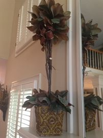 Tall Magnolia Leaf Topiary (Selling as set of 2)