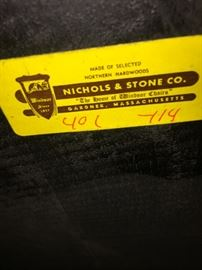Nichols and Stone Hitchcock chairs x4