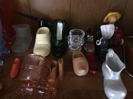 Rare Art Deco Folk Art collectible shoes.
