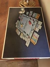 Vintage 1950's Monopoly Board game, all pieces complete great condition.
