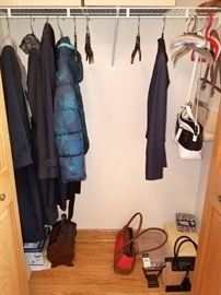 Coats and purses