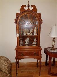 Small curio cabinet...so cute but gorgeous! (Berkey & Gay Furniture brand)