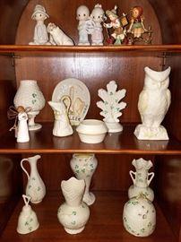 Lots of Belleek and other collectibles