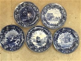 historical blue plates