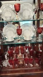 cranberry glassware