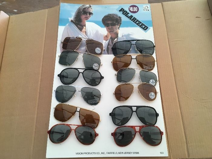 Deadstock 1970s and 80s Sunglasses