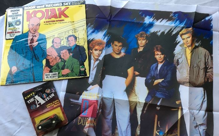 Never Used/ Deadstoc in multiple quantities including  Kojack records, Duran Duran items, A team Van