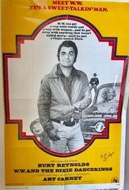 Autographed Vintage Burt poster