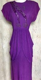 40s Purple Gown