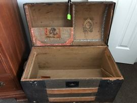 Victorian Childs' Steamer Trunk