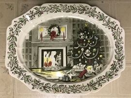 "Johnson Bros. ""Merry Christmas"" Platter"