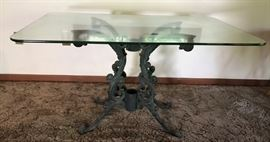 Glass Top & Wrought Iron Table