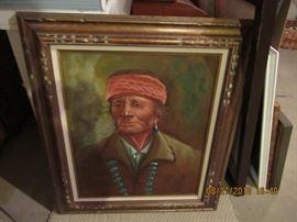 American Indian stunning framed art piece