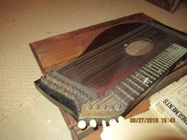German Zither with original case and music sheets