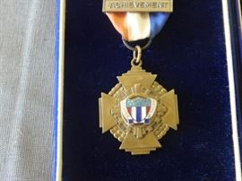 The Legion of Valor of the United States of America, Inc., to stimulate development of leadership, gives an award annually for achievement of scholastic excellence in military and academic subjects.