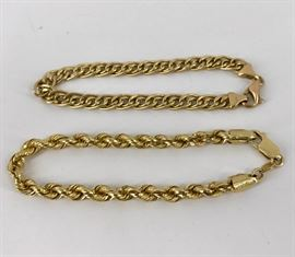 14kt Gold Bracelets          https://ctbids.com/#!/description/share/45748