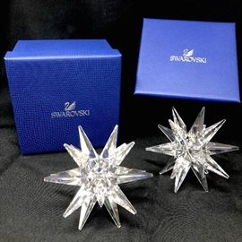 Swarovski Star Candleholder Set (2) https://ctbids.com/#!/description/share/45939